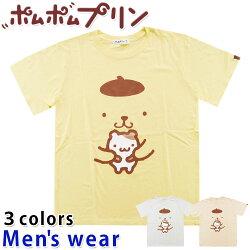 ★メール便送料無料★ポムポムプリン半袖TシャツメンズPP1192-107RAサンリオグッズアニメ犬