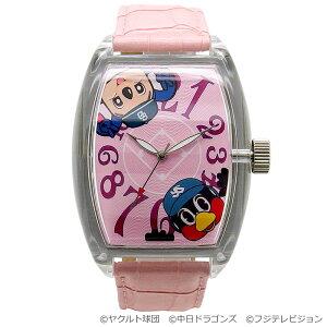【特典:つば九郎Ver.】つば九郎&ドアラ20周年記念コラボ時計 ピンク