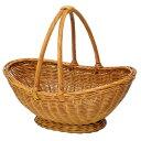 小物収納やフルーツなどの盛りかごに♪かご バスケット 雑貨 盛りかご ハンドル付き籐バスケッ...