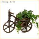 【当店オリジナル】 かわいい三輪車型♪花はもちろんグリーンを飾ってもお洒落(^-^)  籐バス...