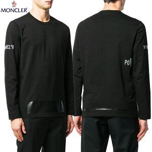 8 MONCLER モンクレール 8002950 V8096 ブラック ロゴワッペン クルーネック 長袖 Tシャツ ロンT