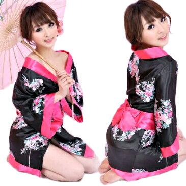 コスプレ 着物 着物ミニ 花魁 ドレス 和服 ゆかた 衣装 コスチューム ミニ丈 和柄 190704mara