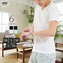 Tシャツ メンズ Vネック【ワイシャツのインナーにぴったり Vネック Tシャツ】コットン100%の優しい着心地 インナーに最適な厚み フィット感 今だけ送料無料◆RTM-select DM502