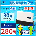 【有線接続】 wifi レンタル 無制限 30日 WiMAX