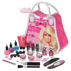 【レビューでクリスマスラッピング無料♪】「バービー キッズ用 ビューティケース」 ピンク/ホワイト  キッズ用メイクアップセット! メイクセット/バニティバッグ/お化粧/Barbie