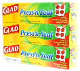 繰り返し使えるラップ!テレビ通販の2倍巻です。【GLAD】Press'n Seal  グラッド プレス&シ...