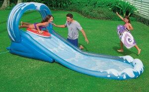 夏といえばプール!INTEX サーフ&スライド ウォータースライダープール