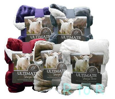 ふわふわな「羊のぬいぐるみ」みたい♪【Ultimate Sherpa Throw】大判ひざ掛け毛布/152cm×177c...