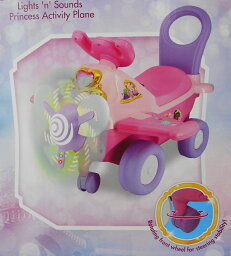 【送料無料】ディズニープリンセス 【KIDDIELAND アクティビティプレイン ライドオン/乗用玩具】 Disney Princess Lights `n` Sounds Activity Plane Ride-On