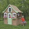 SOLOWAVE木製プレイハウス/ベンチ付属組立式高さ175cm幅127cm奥行167cm※代引き不可