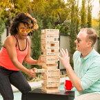 Seville Classics【ブロックバスター】バランスゲーム キャリングバッグ付き 木製ブロック