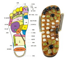 足つぼマッサージ健康サンダル天然石足裏足ツボ刺激(26.5-27cm)