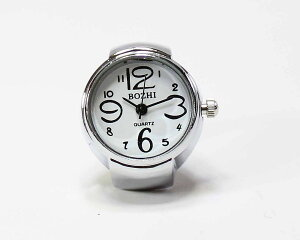 指輪時計 リングウォッチ シンプル 読みやすい 数字 文字盤