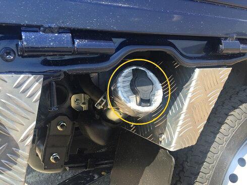DA16T用 スズキ スーパーキャリイ 燃料キャップカバーアルミ縞板