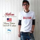 Tシャツ メンズ アメカジ BILLVAN ビルバン アメカジ ヴィンテージ・ロゴ へヴィーウェイト半袖Tシャツ メンズ COTTON USA 0312