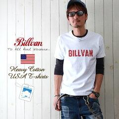 BILLVAN/ビルバン/アメカジ/ヴィンテージ・ロゴ/へヴィーウェイト半袖Tシャツ/メンズ/COTTON USA/0312【02P30May15】