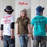 BILLVAN/ビルバン/アメカジプリント半袖Tシャツ「WORKING」726A/メンズ/ヘビーウェイトTシャツ