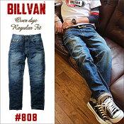 BILLVAN#808レギュラーストレートヴィンテージ加工デニムパンツDKINDIGOビルバンジーンズメンズアメカジ
