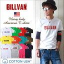 BILLVAN/ビルバン/アメカジ/ヴィンテージ・ロゴ/へヴィーウェイト半袖Tシャツ/メンズ/COTTON USA/0312