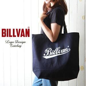 BILLVAN ナチュラル・キャンバス オールドスクールロゴ・トートバッグ