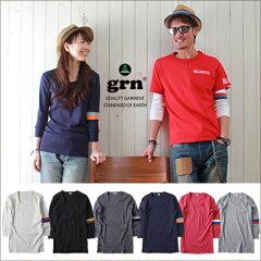 Tシャツ/grn/新シリーズマイ・フィット袖ライン/7分袖Tシャツ