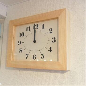 掛け時計 ひのきフレーム ヒノキクロック ナチュラル:ラ・ルースのシンプルな壁掛け時計です。日本製【あす楽対応】【楽ギフ_包装】