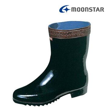 ムーンスター メンズ ワーク 梅雨対策 作業用長靴 ベスターK型底03 黒 汎用性の高い一般作業用ブーツ MS シューズ