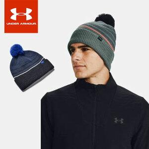 ☆ネコポス アンダーアーマー クリアランス メンズ ニット帽 帽子 ボンボン UA ゴルフ ポム ビーニー 防寒 吸汗速乾 UNDER ARMOUR 1356712 あす楽対応可