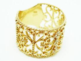 K18ゴールドリング指輪/アンジェラANGELA/CLASSY掲載グレースレースリングK18イエローゴールド【指輪リングレディースおしゃれかわいいプレゼントゴールドK18】