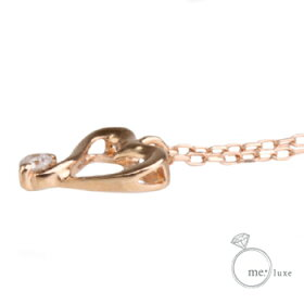 K10ゴールドペンダントネックレス/ミーリュックスME.LUXE/K10ダイヤハートネックレス天然ダイヤモンド(ホワイト・ピンク・イエロー)ネックレスレディースプレゼントおしゃれかわいいゴールドK18K10対応