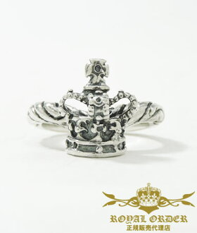 皇家的訂貨環ROYAL ORDER戒指600分刊登郵費免費銀子925/ribbon tiara band w/crown[戒指環人環女子的正規的物品漂亮]禮物包