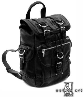 【送料無料】SofferAri ソファアリ/ 繊細美麗で強烈なインパクト本革鞄 レザー リュックサック ...