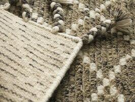ウール100%のモロッカンスタイルハンドルームギャベ<カザール/約60x90cm>◆後払いコンビニ払いラグリー