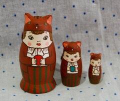☆小さなこだわり☆こんなマトリョーシカ、見たことない!!KIMURA&Co.手作りマトリョーシカ童...