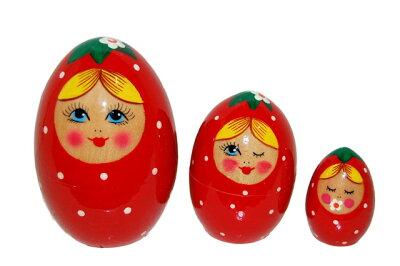 マトリョーシカ、ついにイチゴ化!いちごちゃん 3姉妹【マトリョーシカ】【kitchen_frship】