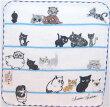 泉州タオルガーゼ無撚糸シンジカトウchaton100匹の猫たちの物語タオルチーフ23×23cm