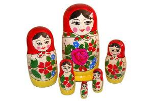 ロシアのマトリョーシカ赤ずき...