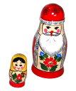 ミニ・サンタさんマトリョーシカ2個組サンタさんとマトリョーシカ【RCPdec18】