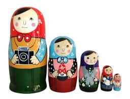 トーキョーマトリョーシカ 16cm 5個組ロシア製【マトリョーシカ】