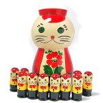 数遊びネコ(子猫10人セット)【マトリョーシカ】