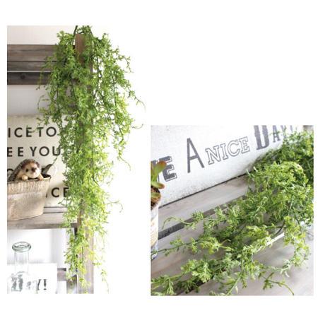 フェイクグリーン コーラルファーンハンギングブッシュ 造花 重ねて 吊るす 長い ロング ピック インテリアグリーン 雑貨 置物 オブジェ ディスプレイ ショップ 店舗 飾り 緑 かわいい おしゃれ シンプル キッチン リビング 玄関 カウンター かご 花瓶 ブリキ 鉢