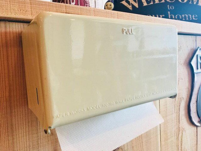 ティッシュディスペンサー ダルトン ペーパータオルホルダー キッチンペーパーホルダー DULTON Tissue Dispenser IVORY SAX RED YELLOW ティッシュケース 壁掛け 卓上 オシャレ アイボリー 水色 レッド 赤 黄色 イエロー インテリア雑貨 アメリカンテイスト レトロ