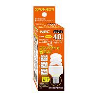 即納 NEC コスモボールミニ 40W形 電球色 EFD10EL/7-E17-C2C