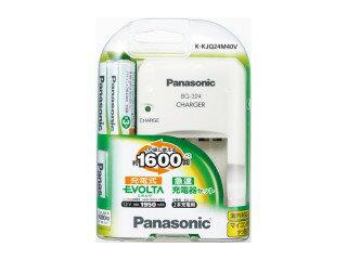 パナソニック 単3形ニッケル水素電池4本付 急速充電器セット K-KJQ24M40V
