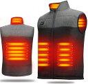 電熱 ベスト 加熱 ベスト ヒートベスト 電熱服 VestUSB充電式 電熱 ベ