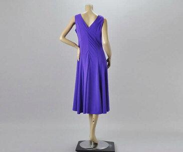 社交ダンス/社交ダンス衣装/衣装/ワンピース/ウェア/ダンスウェア/Lサイズ /紫