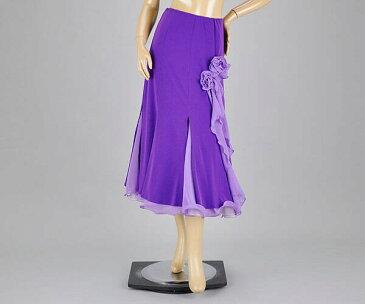 社交ダンス/社交ダンス衣装/衣装/スカート/ウェア/ダンスウェア/M〜Lサイズ/紫
