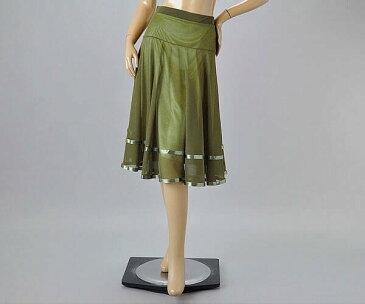 社交ダンス/社交ダンス衣装/衣装/スカート/ウェア/ダンスウェア/フリーサイズ/カーキ