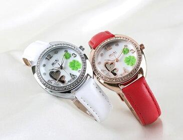 MINI デコウオッチ クローバー かわいい 3D メルヘン レディース 腕時計