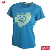 ネコポス バランス newbalance ランニング レディース グラフィック Tシャツ ジョギング マラソン スポーツ トレーニング フィット ロムスポーツ